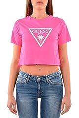 Guess Camiseta Estampada Manga Corta para Mujer Fucsia