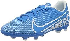 Nike Jr. Mercurial Vapor 13 Club MG, Botas de fútbol Unisex niño, Multicolor (Blue Hero/White/Obsidian 414), 38 EU