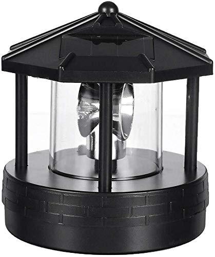 Delisouls Solar Betrieben Leuchtturm, LED Drehbar Leuchtturm Garten Licht Garten Rasen Lampe, Deko Terrasse Dekorativ Licht für Außen Heim
