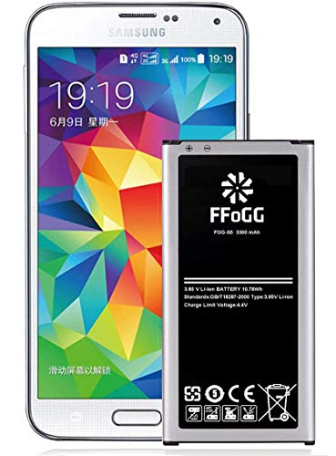 Galaxy S5 Battery,FFOGG 3300mAh Li-ion Replacement Battery for Samsung Galaxy S5 [ I9600, G900F, G900V (Verizon), G900T (T-Mobile), G900A (AT&T),G900P(Sprint)]