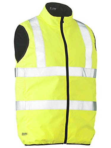 Bisley Workwear UKV0330HT_BBLY - Gilet reversibile ad alta visibilità, 300D, colore: Giallo, UKV0330HT_BBLY