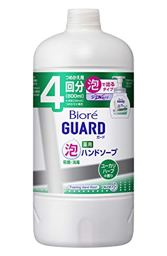 ビオレガード 薬用泡ハンドソープ ユーカリハーブの香り 800ml 詰め替え用