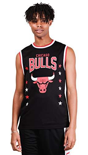 Ultra Game NBA Chicago Bulls Mens Jersey Sleeveless Muscle T-Shirt, Black, Large