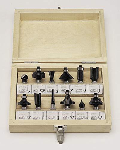 HM Fräsersatz 12-teilig (Oberfräsen), 6 mm Schaft