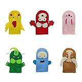 TOYANDONA Kit de Fabricacion de Marionetas de Mano para Niños, 6 Juegos de Arte de Fieltro Títeres de Calcetín Creativo DIY Haz Tus Propios Títeres para Niños Niñas Títeres de Mano DIY