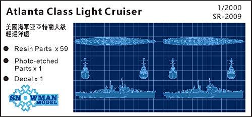 スノーマンモデル 1/2000 アメリカ海軍 アトランタ級軽巡洋艦 CL-51 アトランタ/CL-95 オークランド レジンキット (2隻入り)
