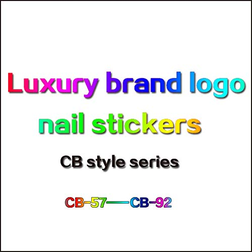 10PCS New trend brand logo nail stickers Luxury brand logo nail stickers nail art nail art material accessories