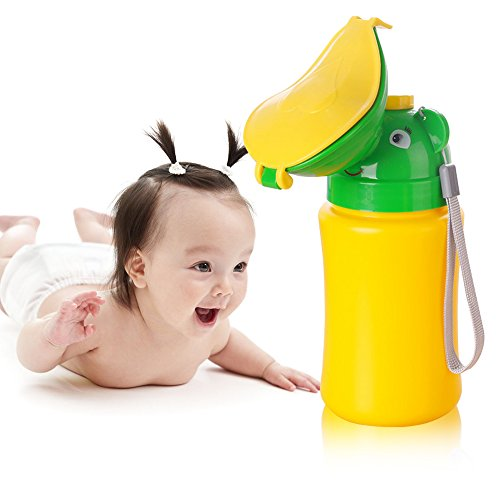 ONEDONE Pee Cup for Kids Portable Urinal Travel Urinal Baby Child Toddler Pee Bottle Potty Emergency Toilet for Camping Car Travel and Kid Potty Pee Training (Girl)