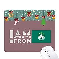 私はマカウから ゲーム用スライドゴムのマウスパッドクリスマス