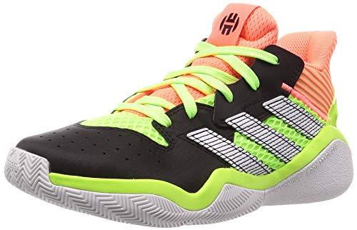 Adidas Harden Stepback J, Zapatillas Deportivas, Core Black/Signal Coral/Dash Grey, 38 2/3 EU