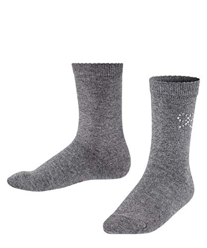 FALKE Unisex Kinder Twinkle Bow Socken, grau (dark grey 3070), 31-34