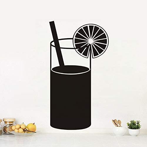 Creatieve Diy Zwart Gedrukt Sap Drinken Keuken Muurstickers Cuisine Decal Home Decor Restaurant Decoratie Hotel Behang Art 43 Cm X 78 Cm