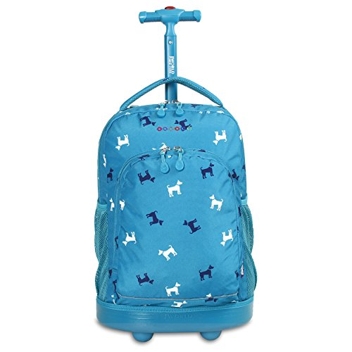 J World New York Sunny Rolling Backpack, Puppy, One Size
