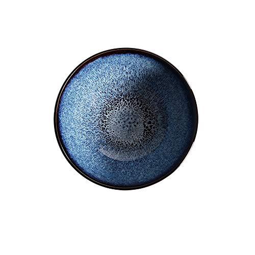 JUNYYANG Japonés Retro Azul de vajilla de cerámica Cereales/Suministros Postre/Fiesta/Sopa/Ramen Tazón de 7 Pulgadas