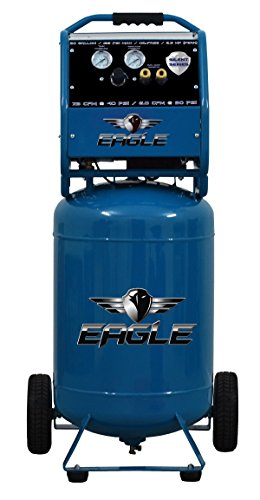 Eagle EA-6500 Silent Series Air Compressor 125 Psi Max Hot...