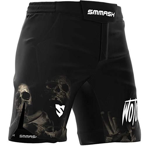 SMMASH Wotore Spirit Deporte Profesionalmente Ultraligero Pantalones Cortos MMA para Hombre, Shorts MMA, BJJ, Grappling, Krav Maga, Material Transpirable y Antibacteriano, (XXL)