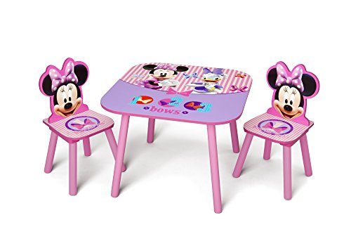 Delta Children Kids Table and Chair Set, Disney Minnie Mouse