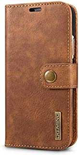 Apple iPhone XS non-slip mobile phone case cover, with wallet function, brown.