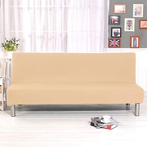 kengbi Funda de sofá duradera y fácil de limpiar, funda universal para sofá cama sin brazos plegable, moderna, fundas elásticas para sofá, protector de sofá barato