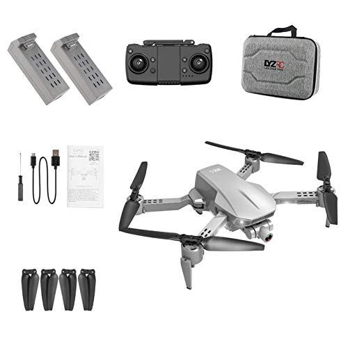 Mini-Drohne mit 2-Achsen-Stabilisator Gimbal-Kamera-Drohne, 4K 5G WiFi Optische Flusspositionierung RC Quadcopter mit GPS Return Home, Zusammenklappen, Follow Me, Gestenfotos, (Batterie + Tragetasche)