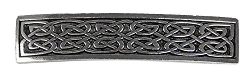 Small Celtic Hair Clip, Medium Hand Crafted Metal Barrette Made in the USA with a 70mm Imported French Clip by Oberon Design