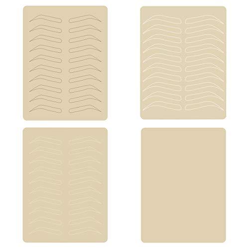 Healifty 4 Hojas de Práctica de Maquillaje Permanente de Piel de Látex para Suministros de Microblading de Tatuaje de Cejas