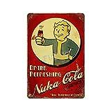 Zap That Thirsti Nuka Cola Vintage-Blechschild Kunst