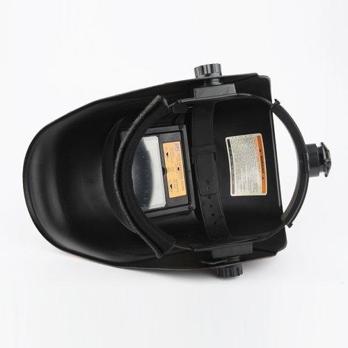 Amzdeal® Masque de Soudure Automatique Casque Solaire Auto assombrissement Masque Soudeurs à l'arc crâne masque Casque de soudage DIN 9-13(Noir + flamme)