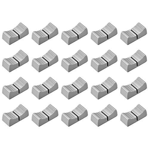 Sourcingmap - Perillas de repuesto para potenciómetro de 24 x 11 x 10 mm, marca negra, 20 unidades