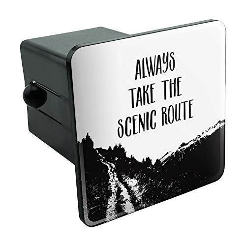 Graphics and More Always Take The Scenic Route Hiking Travel Tow Trailer Hitch Cover Plug Insert 2'