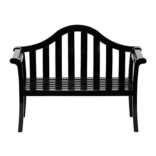 achla outdoor benches Achla Designs Camelback Wood Garden Bench, Black