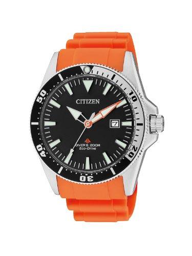 Citizen Herren-Armbanduhr XL Promaster Analog Quarz Kautschuk BN0100-18E