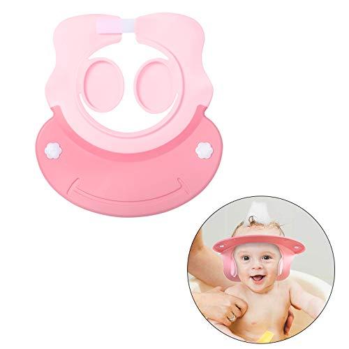 Shampoo Schutz KATOOM Duschhaube Kinder Haarewaschen Haarwaschhilfe Baby Augenschutz Ohrenschutz Einstellbar Kappe Wasserdicht Cap für Badezimmersicherheit ab 6 Monaten