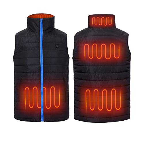 Valentines Day Gifts For Him |Heated Vest For Men | Adjustable Size 6 Heating Zones Heated jacket Fishing Camping Hiking Motorcycling Skiing Hunting Climbing Outdoor Heater