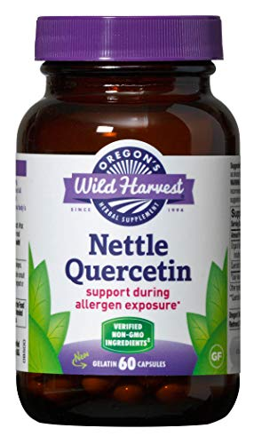 Oregon's Wild Harvest Nettle Quercetin Capsules, Non-GMO Organic Herbal Supplements, 60 Count