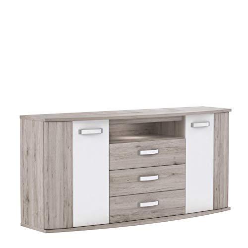 FORTE Rondino Highboard, Holzwerkstoff, 61,3 x 81,5 x 169,6 cm