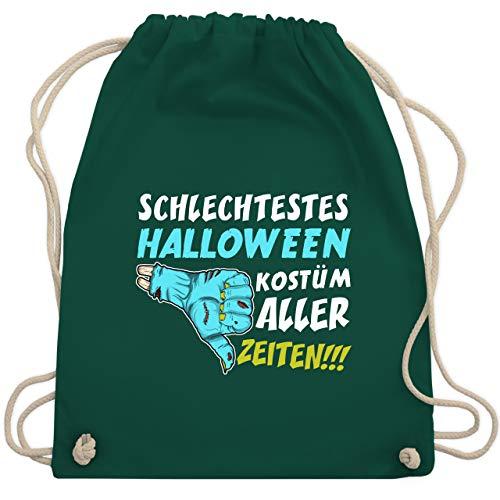 Shirtracer Halloween - Schlechtestes Halloween Kostüm aller Zeiten - Unisize - Dunkelgrün - halloween kostüme - WM110 - Turnbeutel und Stoffbeutel aus Baumwolle