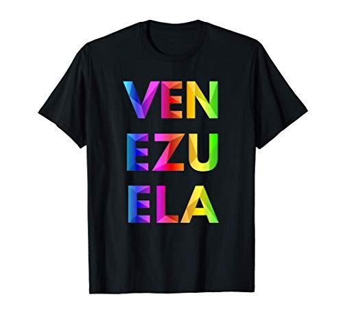 Venezuela Origami Artístico Colorido Camiseta