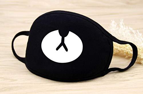 Kaptin 5 Pack Black Teeth Pattern Mouth Mask, Unisex Cotton Blend Anti Dust Face Mask for Men Women (5Pcs, Ordinary Mouth Mask)