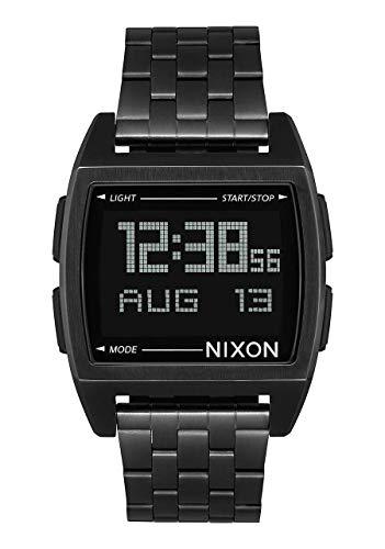 Nixon Herren Digital Uhr mit Edelstahl Armband A1107-001-00