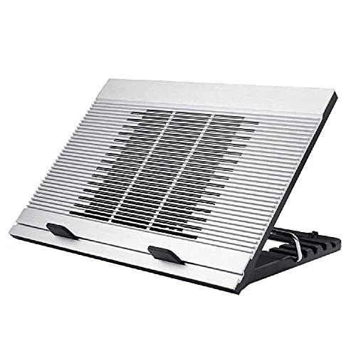 XXCHUIJU Portátil del refrigerador portátil Soporte de Ventilador de enfriamiento Individual Frame de refrigeración silencioso Puerto USB Dual Compatible con Laptop 10-17.3 Pulgadas
