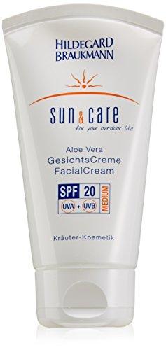 Hildegard Braukmann Sun und Care femme/women, Aloe Vera Facial Cream SPF20, 1er Pack (1 x 75 ml)