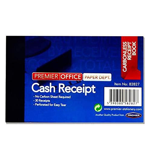Premier Stationery A2882827 - Cuaderno de recibos de efectivo duplicado sin carbono para oficina (4 x 2,5 pulgadas)