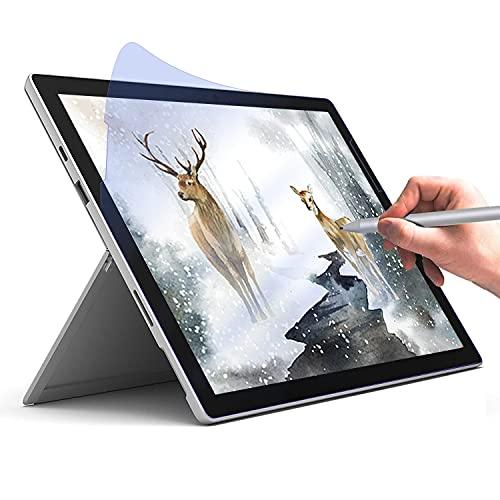 [2er Pack] Anti-Blue Paperfeel Bildschirmschutzfolie für Microsoft Surface Pro 7+/7/6/5/4, Bildschirmschutzfolie Zeichnen & Skizzieren wie auf Papier Anti-Glare Weniger Reflexion für Surface Pro 12.3''