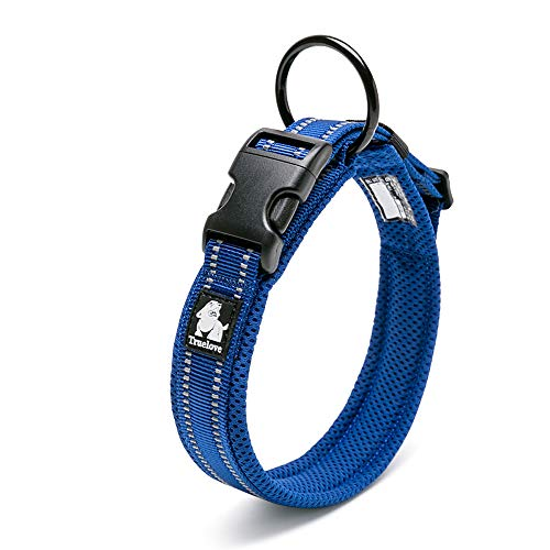 Chai's Choice Padded Comfort Cushion Dog Collar (Large, Royal Blue) Please Measure Carefully and Use Sizing Chart in The Photos at Left