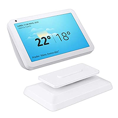 EEEKit Stand Holder for Echo Show 8 Smart Speaker, Adjustable Magnetic Stand Mount Accessory with Anti-Slip Base Swivel & Tilt Function(White) by EEEKit