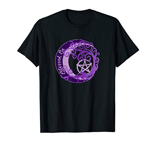 Wiccan and Pagan, Tree of Life Pentacle, Blessed Be, Witch T-Shirt