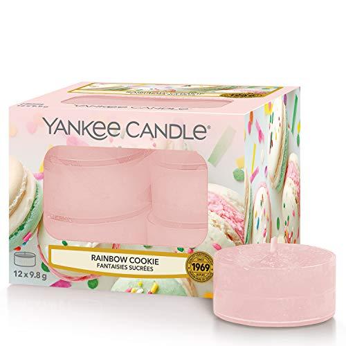Yankee Candle candeline profumate tea light | Biscotto arcobaleno | 12 pezzi