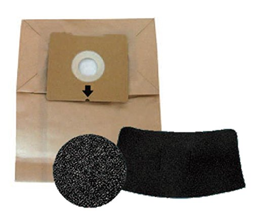 Bissell 5 Bag & Filter Kit for 4122 Zing Bagged Canister, New OEM Part, 1480, 8 Ounces, Brown
