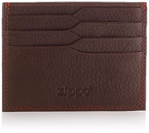 Zippo Leather Credit Card Holder Tarjetero 10 Centimeters Marrón...
